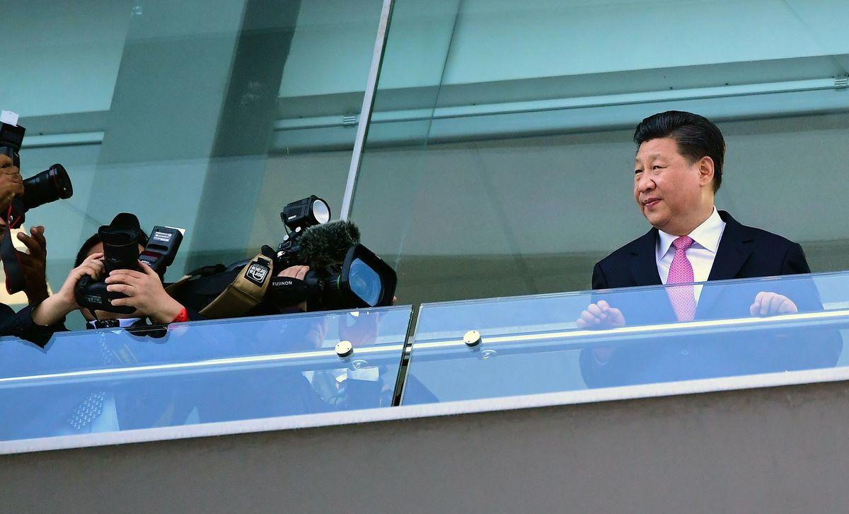 12月3日,習近平在巴拿馬訪問。 ( LUIS ACOSTA/AFP/Getty Images)