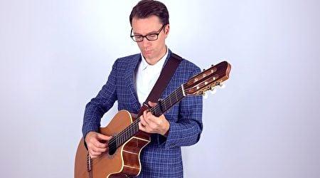 帕特里克(Patrick),是「臨時居民」(The Temporary Residents)樂隊的主奏吉他手和聯合創始人。(由「臨時居民」樂隊提供)