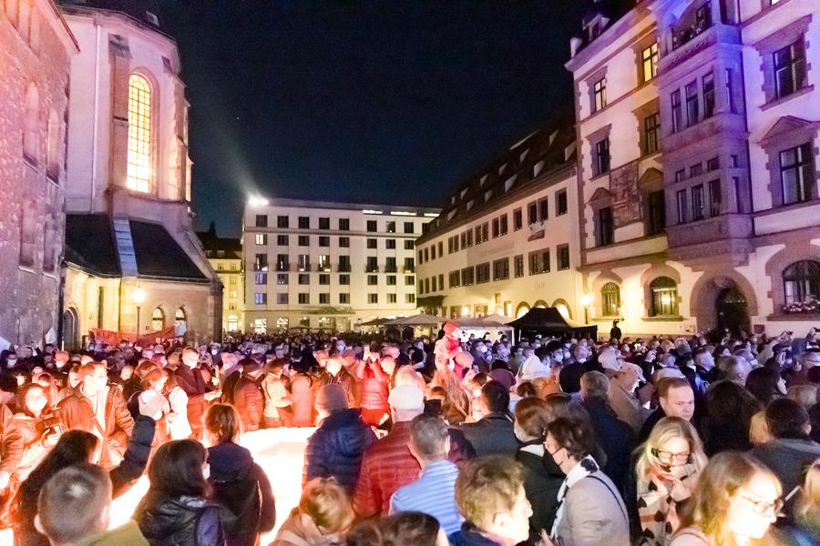 解體東德共產政權 萊比錫和平遊行32周年紀念(多圖)