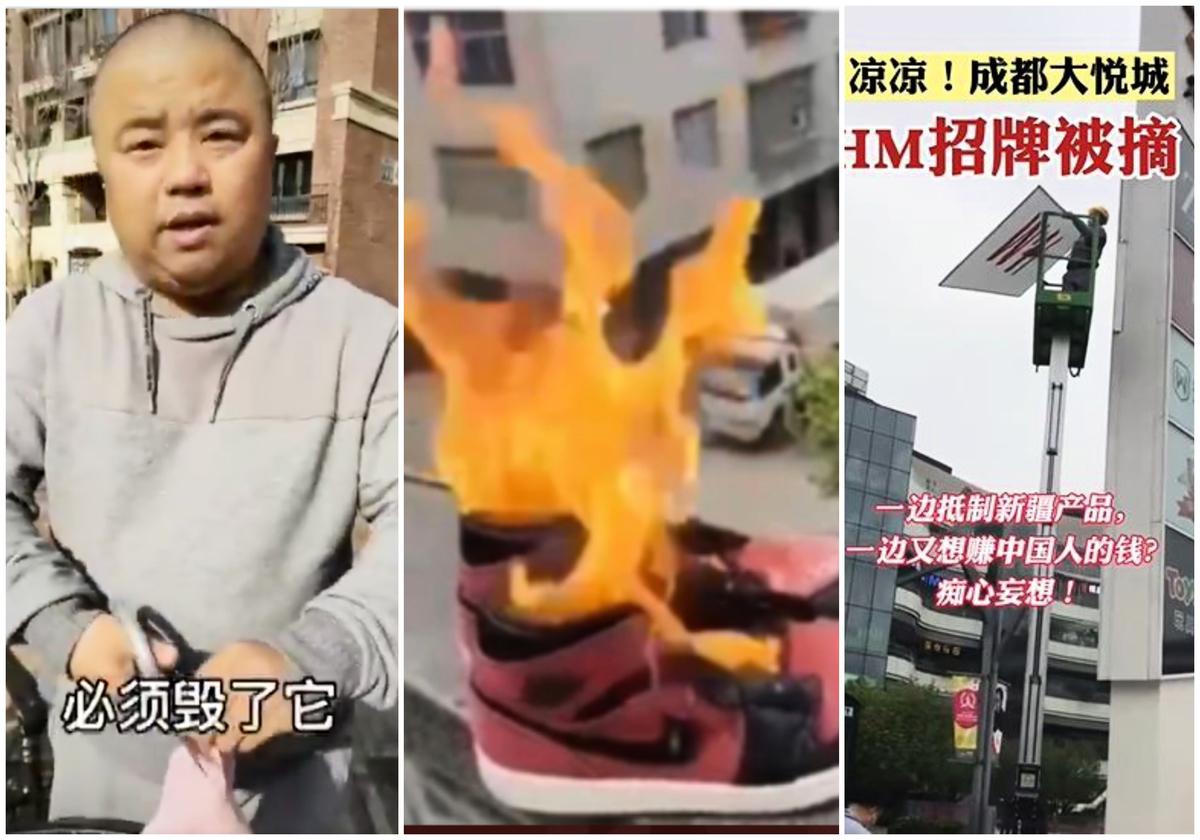 中共官媒煽動的一場「義和團式」的抵制洋貨熱潮正在大陸延燒。(影片截圖合成)