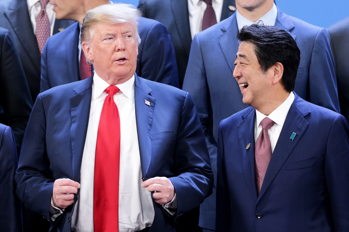 在下周第二次特金會前,美國總統特朗普周三(2月20日)與日本首相安倍晉三通話,雙方重申致力於朝鮮半島無核化目標。(Daniel Jayo/Getty Images)