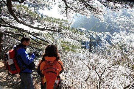 安徽黃山風景區初雪。(大紀元資料室)