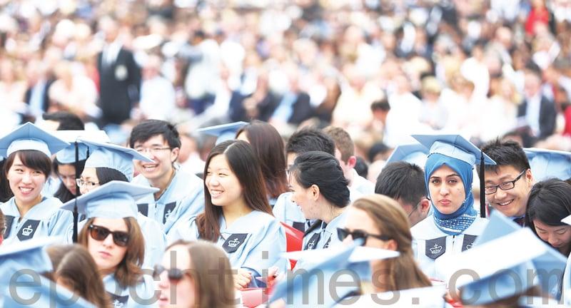在美國的中國留學生逐年增多。資料圖(杜國輝/大紀元)
