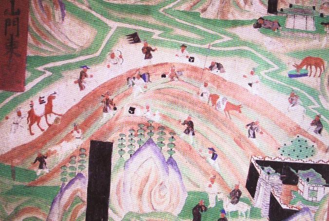 敦煌壁畫:絲綢之路上的商隊。(公有領域)