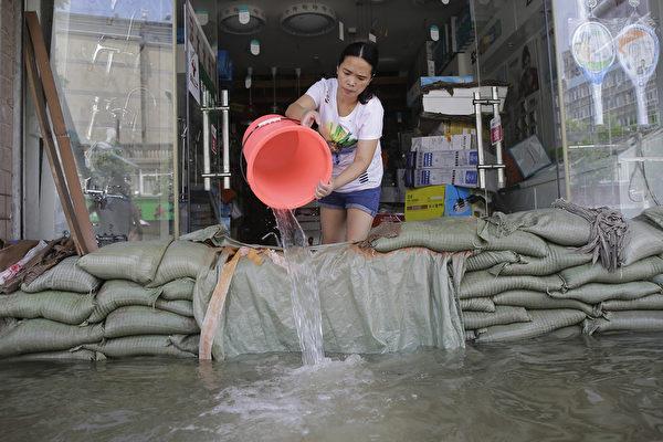十張圖片看中國南方水災