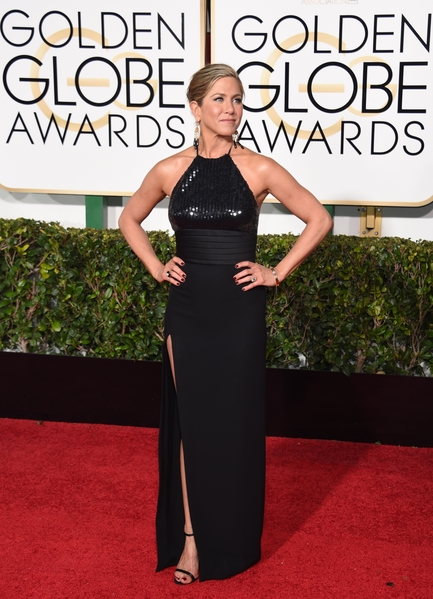 US-ENTERTAINMENT-GOLDEN-GLOBE-ARRIVALS 詹妮弗‧安妮斯頓(Jennifer Aniston)。(MARK RALSTON/AFP)
