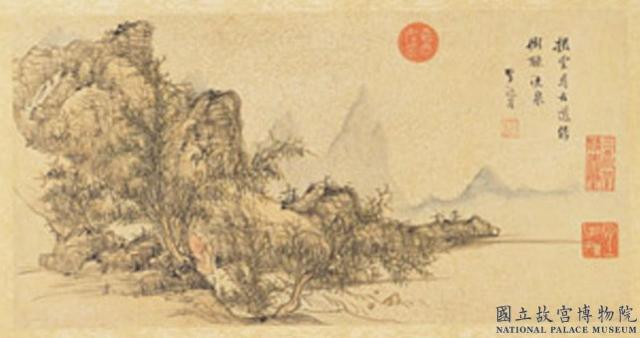 明朝李流芳繪《李白尋雍尊師隱居詩》,現藏台北故宮博物院。(公有領域)