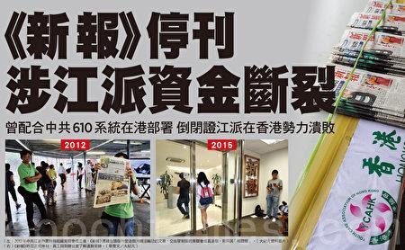 2015年7月13日,香港《新報》正式停刊。(大紀元製圖)