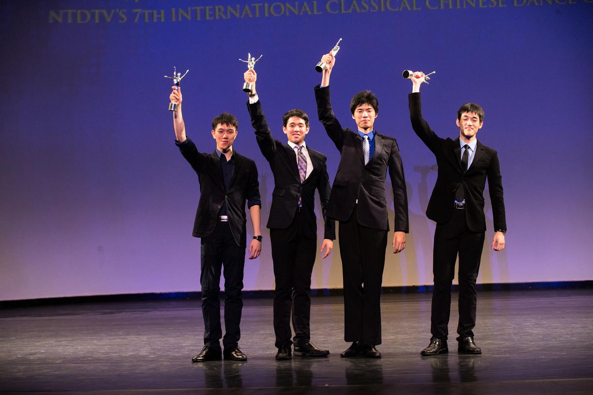 新唐人第七屆「全世界中國古典舞大賽」男子銀獎選手。 (戴兵/大紀元)
