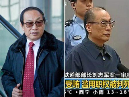 原鐵道部部長劉志軍前後對比。(視像擷圖)