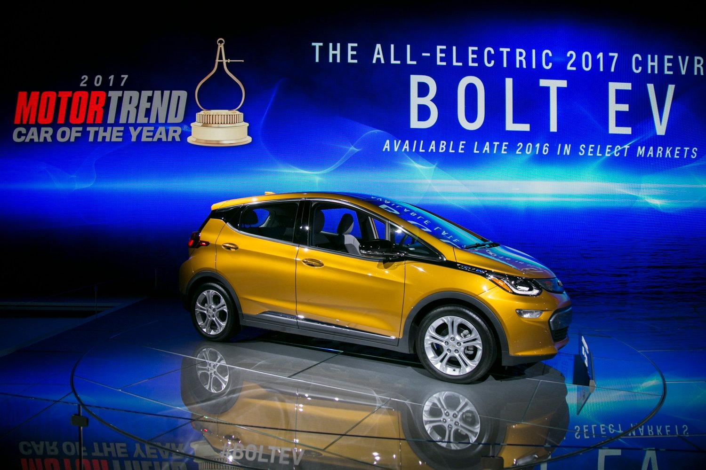 Bolt EV獲選《綠能汽車雜誌》的年度環保車,此前還獲選「Motor Trend Car of the Year」。(曹景哲/大紀元)