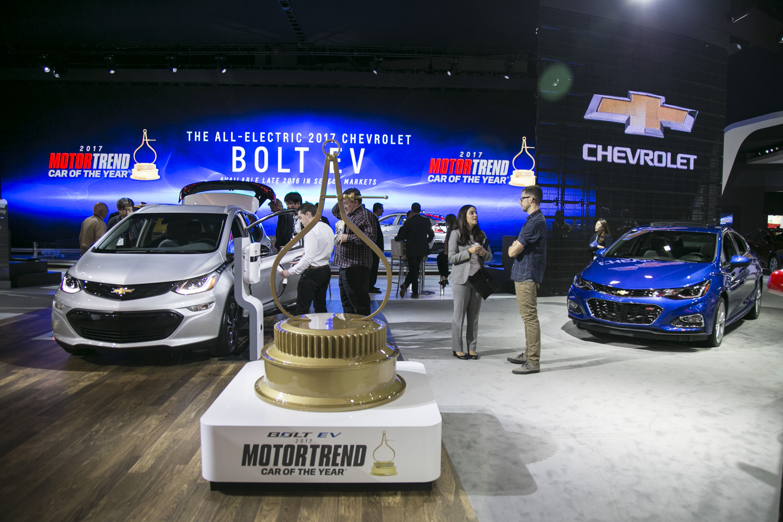 Bolt EV獲選《環保汽車雜誌》的年度環保車,此前還獲選「Motor Trend Car of the Year」。(曹景哲/大紀元)