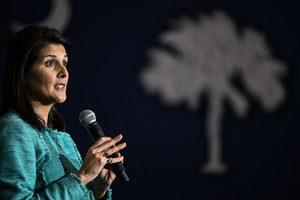特朗普選國務卿 傳南卡印裔女州長是黑馬