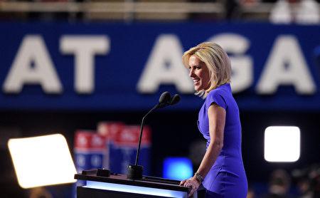 英格拉漢姆(Laura Ingraham)則是白宮發言人另一個熱門人選。(Jeff Swensen/Getty Images)