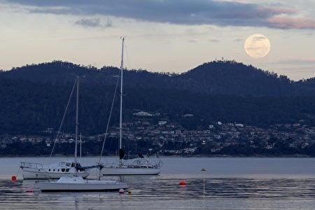 NASA表示,一直到2034年的11月25日之前,都不會再有這麼接近地球的滿月了。澳洲上空的超級月亮。(Robert Cianflone/Getty Images)