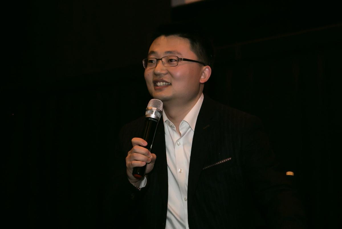 《血刃》導演李雲翔在華盛頓D.C.首映禮上,他說,「90%的場景基於真實的事件。」(李莎/大紀元)