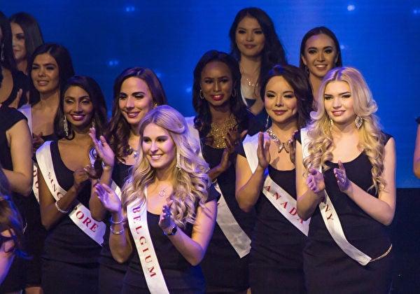 12月18日,成功站在世界小姐決賽舞台上的林耶凡。(李莎/大紀元)