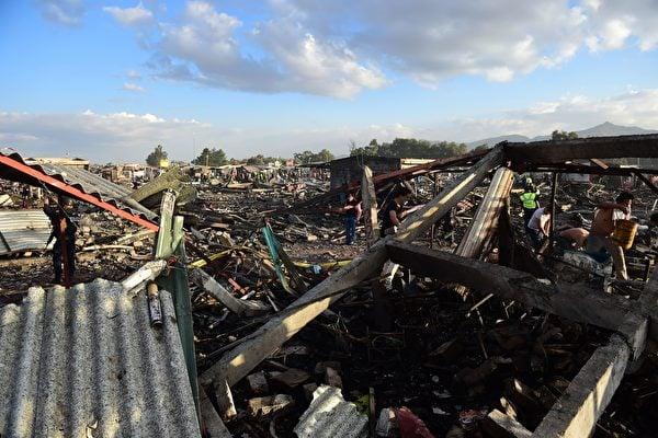 墨西哥煙花市場大爆炸 29死80傷