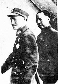 蔣介石與戴笠,攝於上個世紀40年代。(維基百科公有領域)