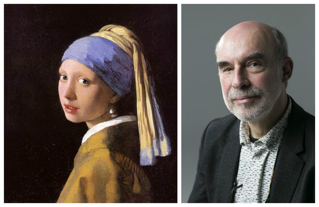 丹麥國家美術館修復部主管Jorgen Wadum教授1994年對維梅爾的名作《戴珍珠耳環的少女》進行了最近一次修復,有頗多心得與洞見。(公有領域,Samira Bouaou/大紀元合成)