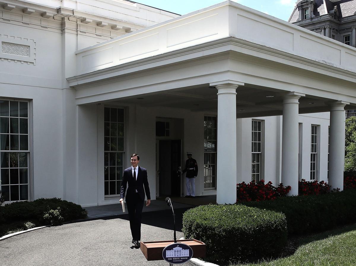 庫什納在周一的講話中再次強烈反對外界的指稱。他說:「讓我非常清楚地說明這一點,我沒有與俄羅斯串通,我也不知道競選團隊中的任何其他人與任何外國政府串通。」(Photo by Mark Wilson/Getty Images)