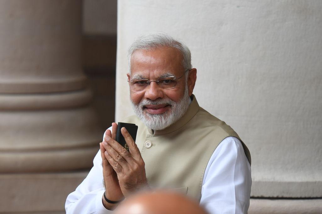 印度總理莫迪表示,對話才是兩國找到解決辦法的唯一途徑。(PRAKASH SINGH/AFP/Getty Images)