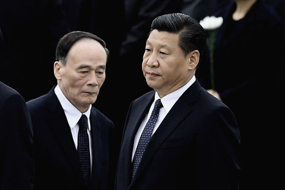 中共政治局委員孫政才落馬後,多間外媒都認為,王岐山將留任,習近平可能連任三屆。 ( Feng Li/Getty Images)