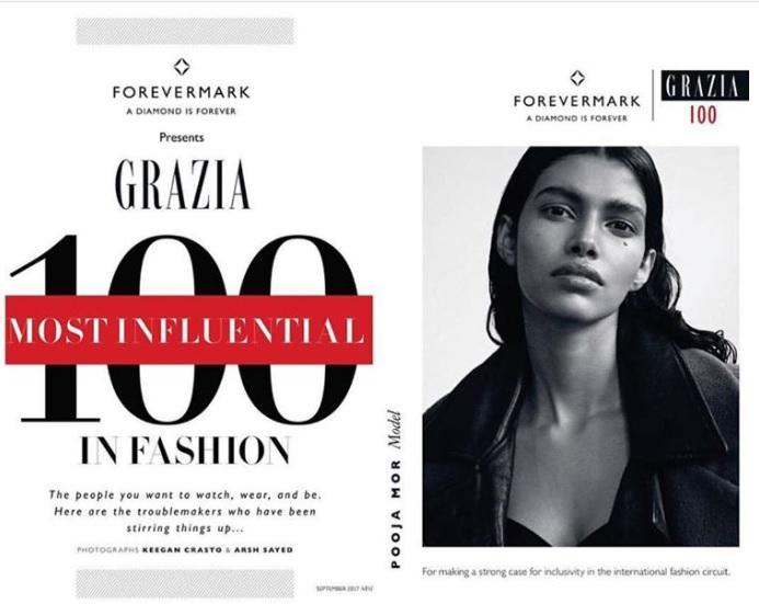 Pooja Mor入選國際知名時尚雜誌《Grazia》「100 Most Influential In Fashion」。(Pooja Mor/Instagram)