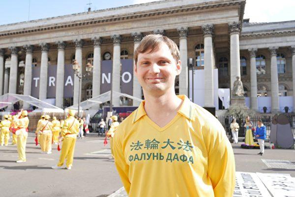 來自烏克蘭的Vladimir。(張妮/大紀元)