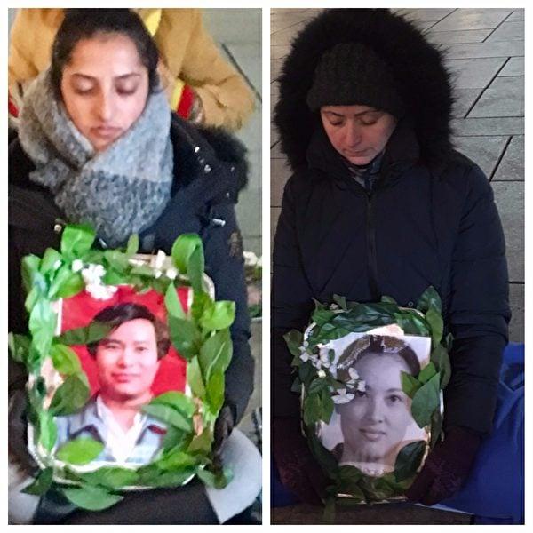 法蘭克福的法輪功學員參加燭光守夜,悼念在中國被迫害致死的法輪功學員。(羅瓊/大紀元)