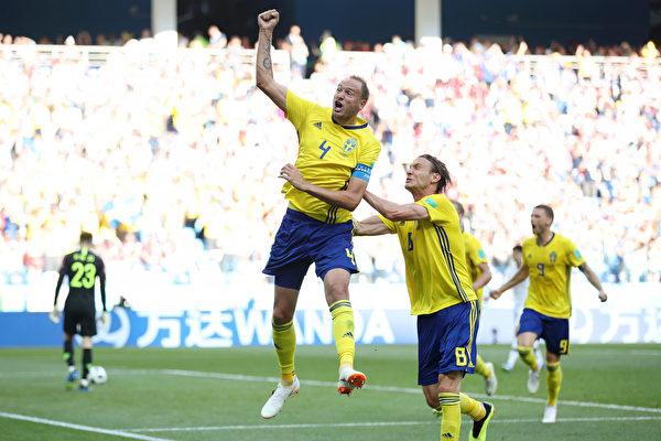 世界盃F組:瑞典1比0小勝南韓