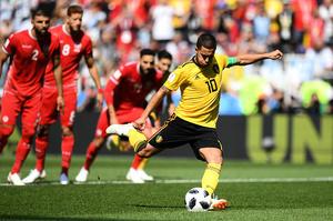 G組第二輪 比利時以5:2擊敗突尼西亞