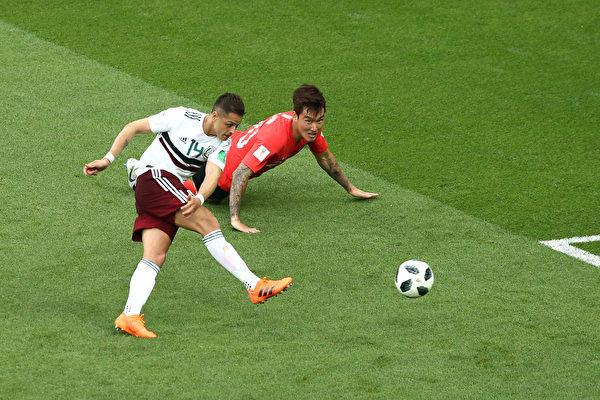 世界盃F組第二輪 南韓1:2敗於墨西哥