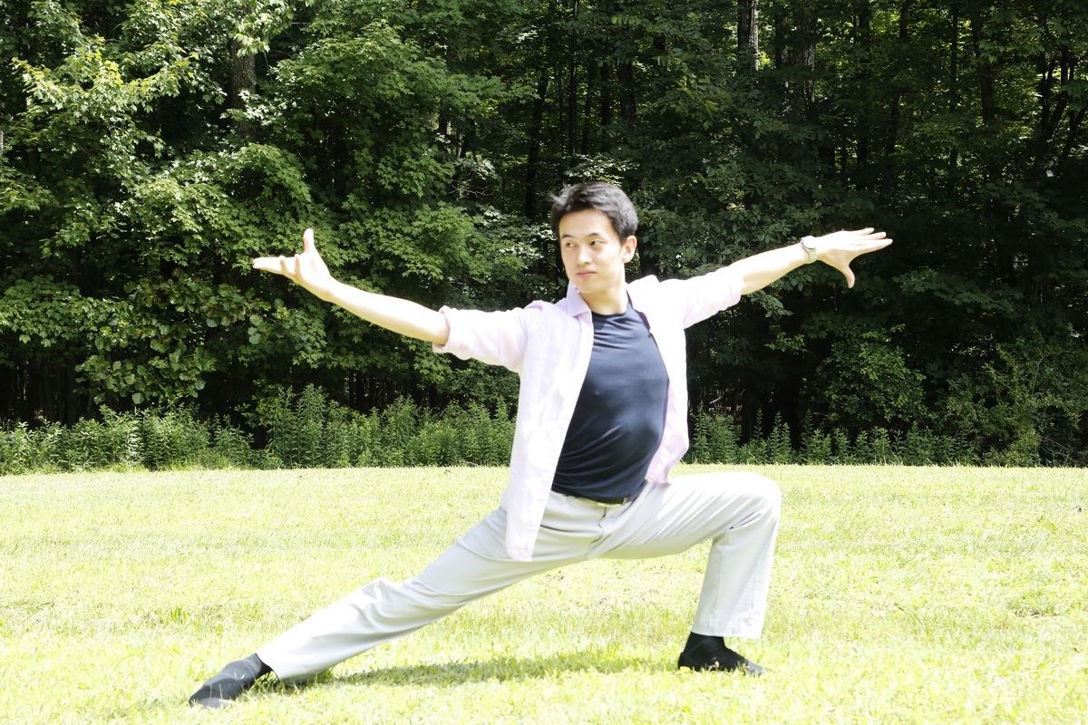 小林健司的舞姿。(施萍/大紀元)