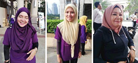 左起:Ajira、Nurul、Ayu女士開心的分享了她們首次學煉法輪功後,就感受到了健康得到改善的體會。(明慧網)