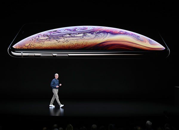 iPhone Xs重拾面部ID功能。(Justin Sullivan/Getty Images)