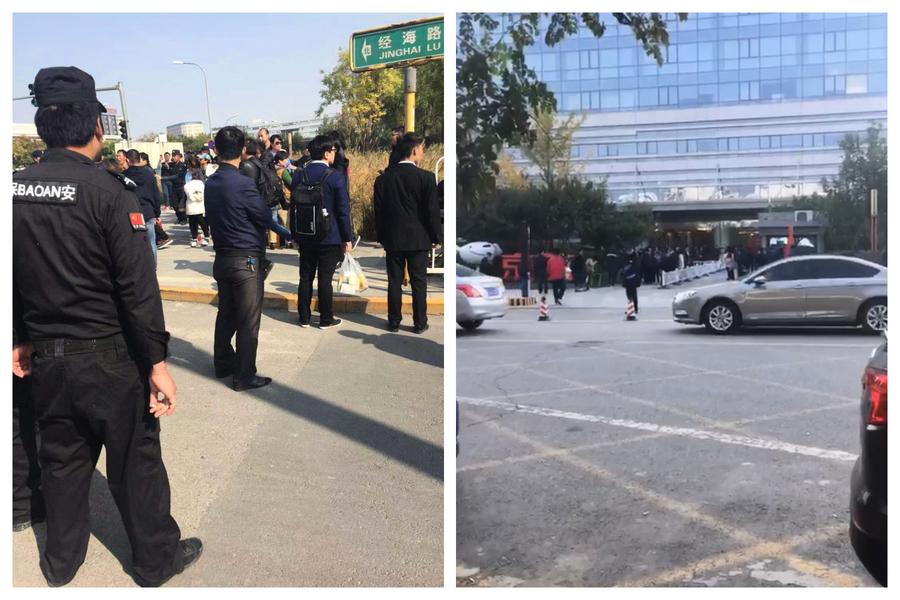 P2P難友京東總部維權 保安打人 警方抓人