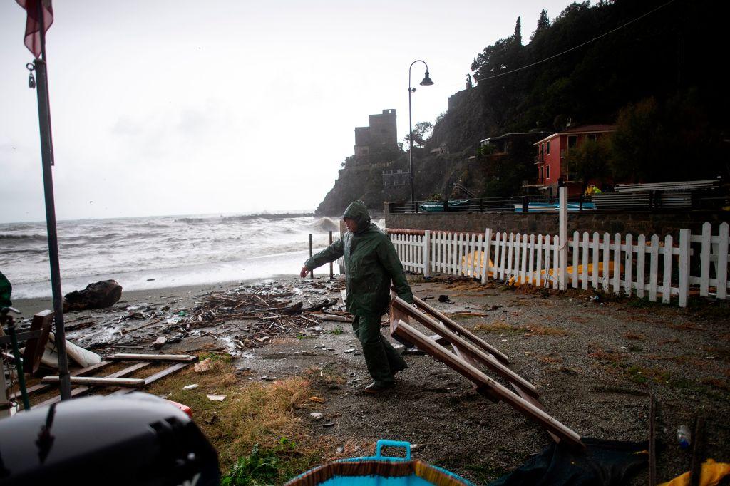 暴風雨肆虐意大利,威尼斯老城70%遭到洪水淹沒。(MARCO BERTORELLO/AFP/Getty Images)