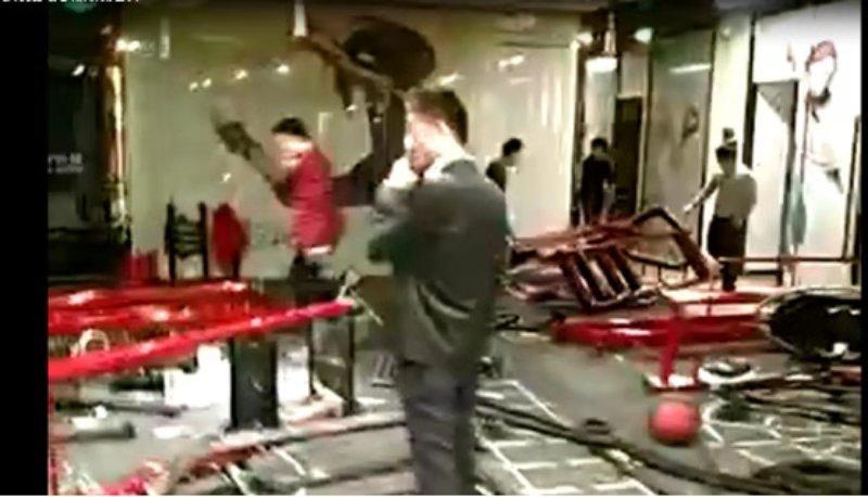 會所內健身器材、裝修都被毀壞。(受訪者提供)