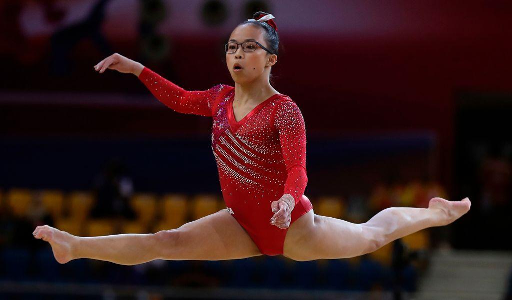 2018年10月30日赫爾德在卡塔爾多哈舉行的2018年世界體操錦標賽上。 (KARIM JAAFAR/AFP/Getty Images)