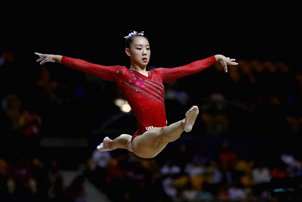 伊克爾(Kara Eaker)在2018體操世錦賽上。(Francois Nel/Getty Images)