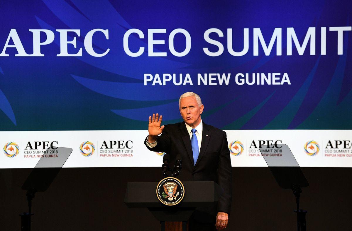 彭斯說,我明確表示:美國希望在公平、對等和尊重主權的基礎上改善與中國的關係。(SAEED KHAN/AFP/Getty Images)