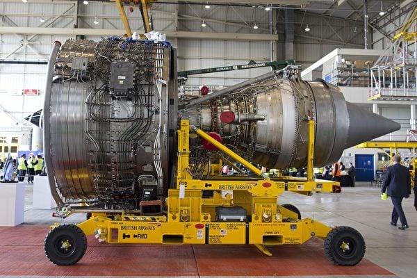 10月30日,美國司法部發佈一份起訴書,起訴數名中共情報人員。他們涉嫌竊取商用噴氣式客機中使用的渦輪風扇發動機(見圖)機密。(JUSTIN TALLIS/AFP/Getty Images)