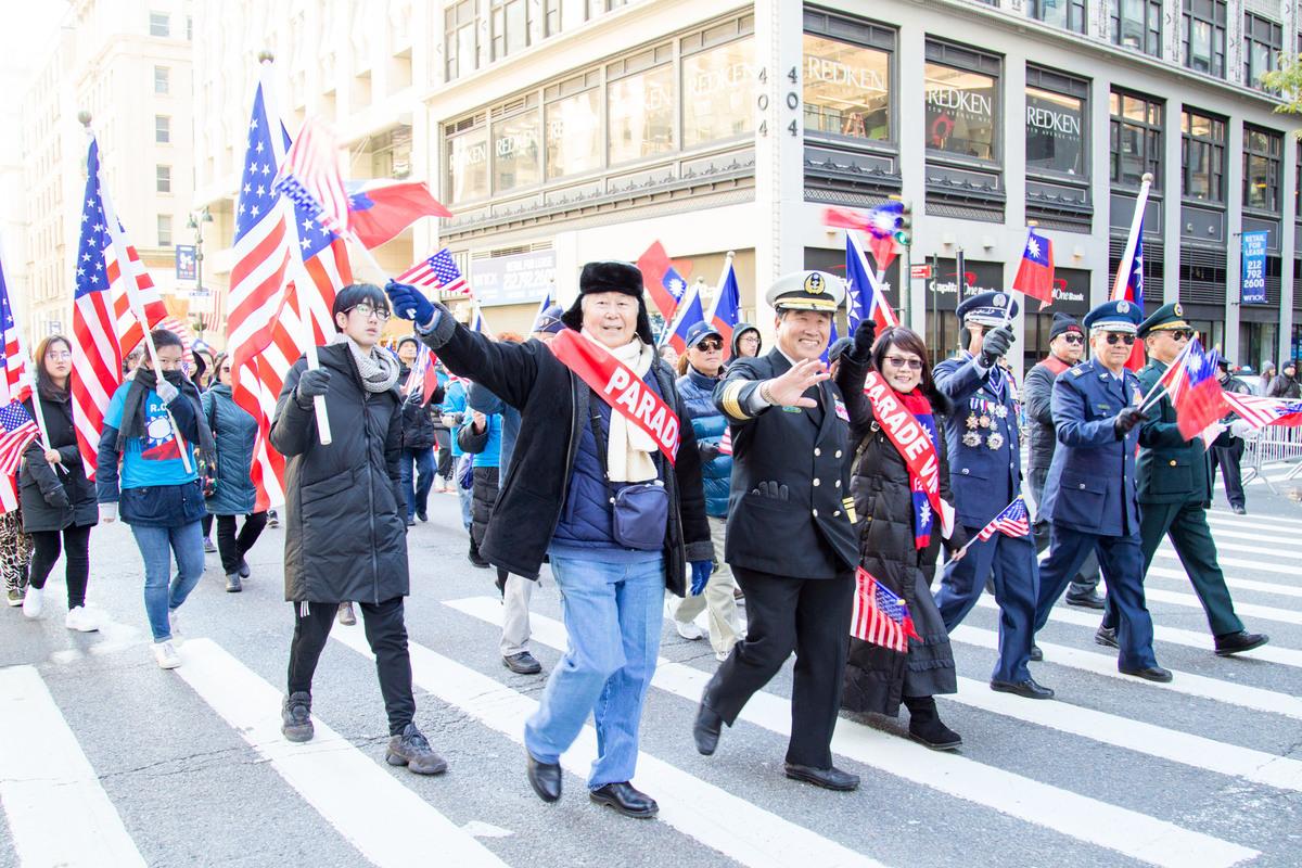 2018年11月11日紐約老兵節遊行活動。(張學慧/大紀元)