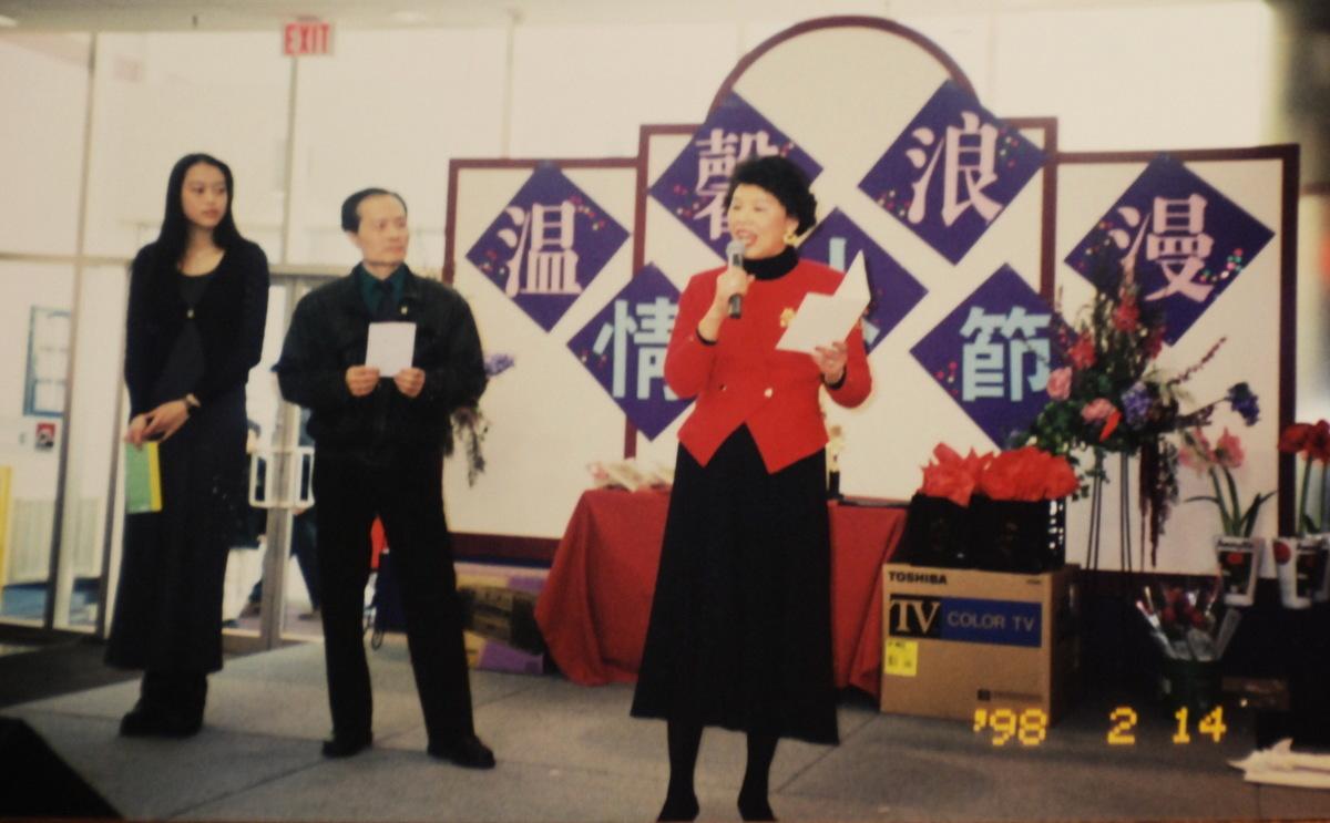 任志宏參加社區表演。(任志宏提供)