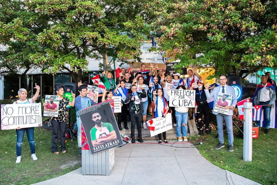 抵制共產主義 加拿大滿地可多個族裔集會