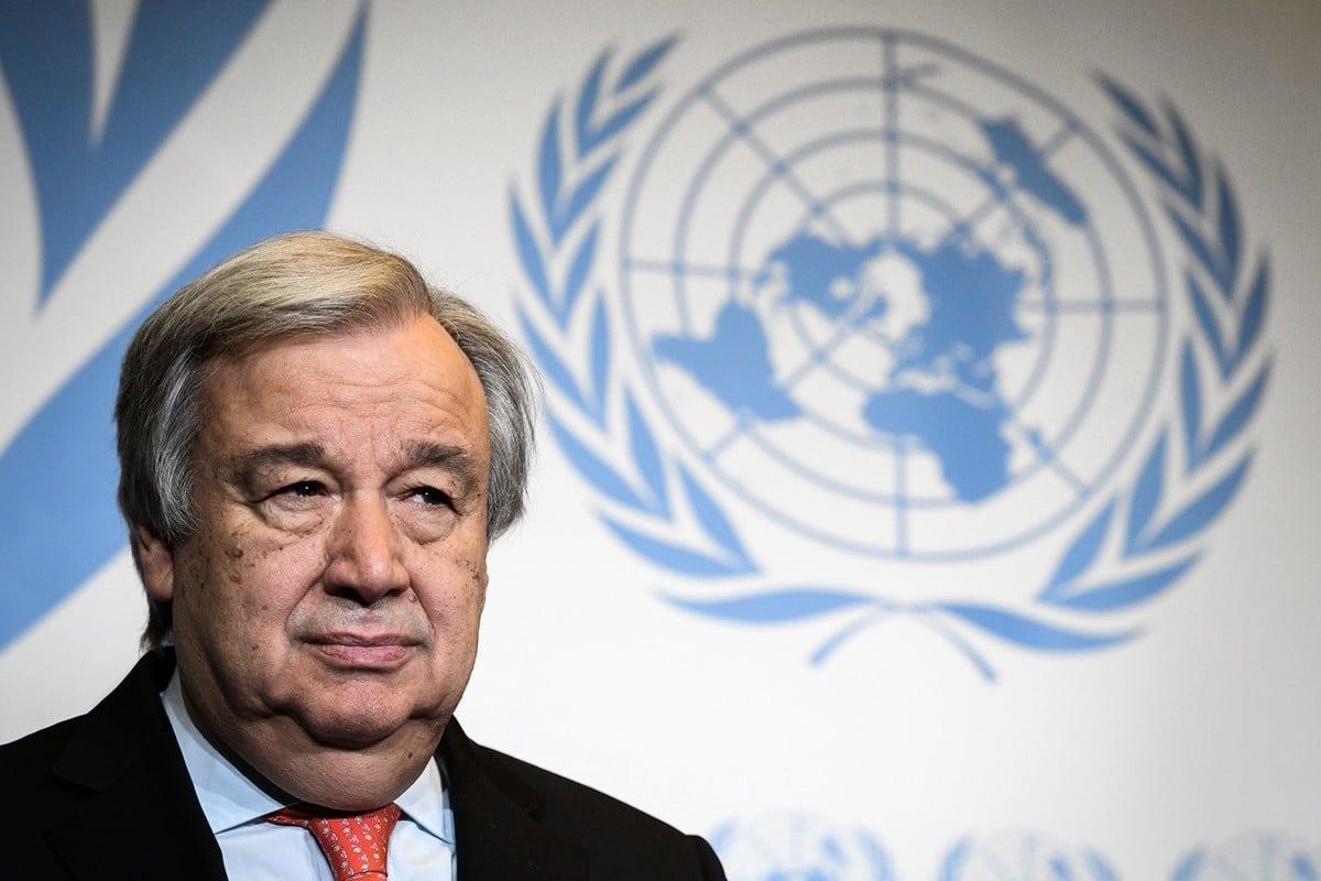 聯合國秘書長古特雷斯提交給聯合國大會的報告顯示,北韓監獄嚴重侵犯囚犯的人權。圖為2018年5月24日,古特雷斯在瑞士日內瓦大學(University of Geneva)出席一項會議。(FABRICE COFFRINI/AFP/Getty Images)