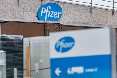 圖為美國輝瑞製藥公司在比利時的工廠。(JONAS ROOSENS / Getty Images)