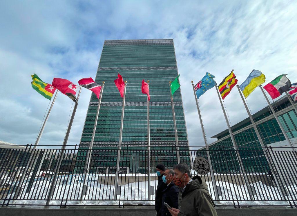 圖為位於紐約的聯合國大廈。(Monika Graff/Getty Images)