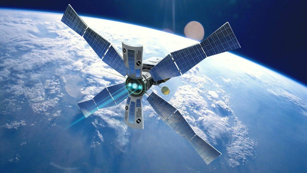 太陽能離子驅動的擎天柱太空運輸(Optimus Space Transport)。(由Space Machines Company提供)
